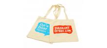 Katoenen tas met opdruk