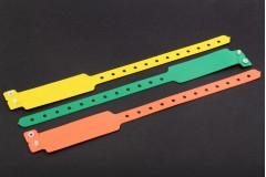 Vinyl polsbandjes met verbreding - onbedrukt