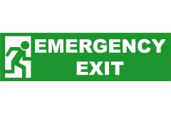 Spandoek Emergency Exit 250 x 80 cm