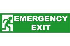 Spandoek Emergency Exit 250 x 80 cm