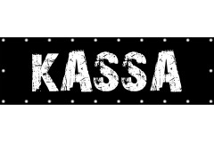 Spandoek Kassa 250 x 80 cm